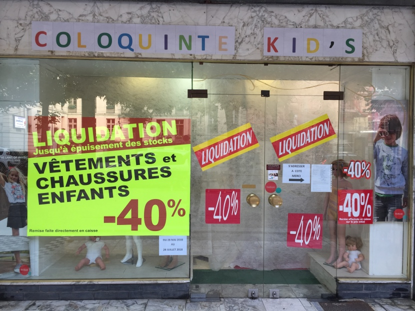 Liquidation dans votre magasin Coloquinte Kid's et Grand déstockage dans votre magasin Coloquinte àLuchon.